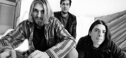 Kurt Cobain y Dave Grohl