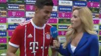 ¡Danke! Primera entrevista de James tras su debut con el Bayern