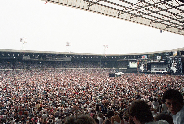 Live Aid concert at Wembey