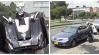 ¡Wow! Conozca al 'Transformer' colombiano que es sensación en las calles
