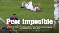 """""""Peor imposible"""": Así tituló la prensa argentina la victoria de Colombia en Brasil"""