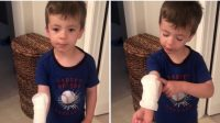 """El niño que confundió una toalla higiénica con """"curita gigante"""" que provoca risas en redes sociales"""
