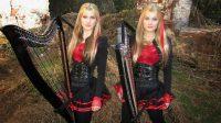 Las gemelas que tocan los mejores clásicos del rock en arpa