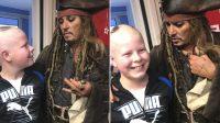 Johnny Depp vuelve a ser Jack Sparrow y realiza videollamada con niños hospitalizados