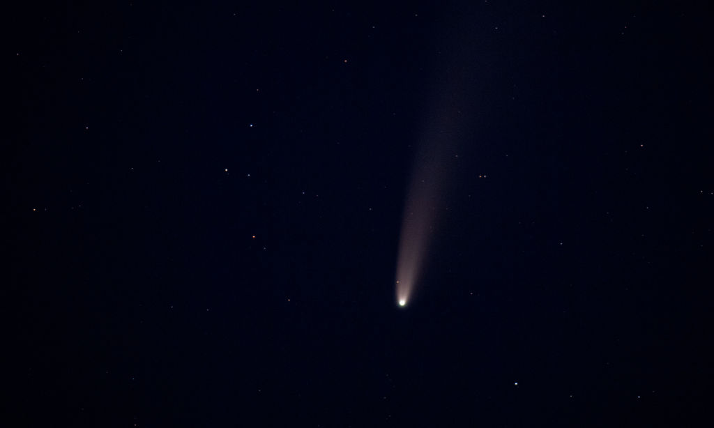 Comet over the island of Usedom