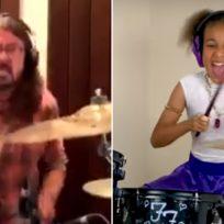 Dave Grohl le escribió una canción a la niña que lo retó a un duelo de batería