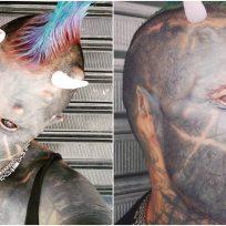 Hombre se quita la nariz para parecerse a 'Satanás humano'
