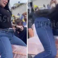 Mujer bailó sensualmente sobre el ataúd de su esposo para despedirlo