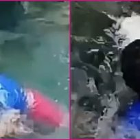 Hombre intentó grabar un TikTok en una cascada y se lo llevó la corriente