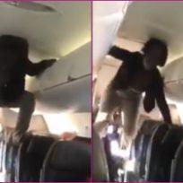 (Video) Mujer sufre un colapso en pleno vuelo y la comparan con 'El Exorcista'