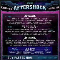 Metallica y My Chemical Romance encabezan el cartel del Aftershock Festival 2021