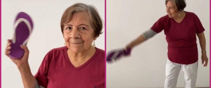 "Abuela se vuelve famosa por hacer un tutorial de ""chancletazo"" en TikTok"