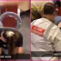 Estudiante borracha se queda atrapada en la secadora y tiene que ser rescatada