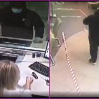 Ladrón entró a robar un banco y huyó asustado porque le dijeron que no
