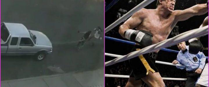 ¿Rocky mexicano? Hombre arrastra un carro en la calle mientras entrena boxeo