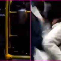 VIDEO: Sujeto entró a buscar pelea en Transmilenio y lo sacaron a puños
