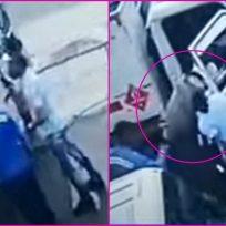 Por 'manilargo', ladrón recibe tremendo golpe con un cilindro de gas