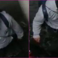Video: motociclista cayó en un hueco de 5 metros y no entiende cómo