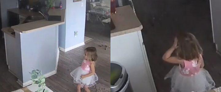 El gesto de una niña de 4 años que evitó que su hogar se incendiara
