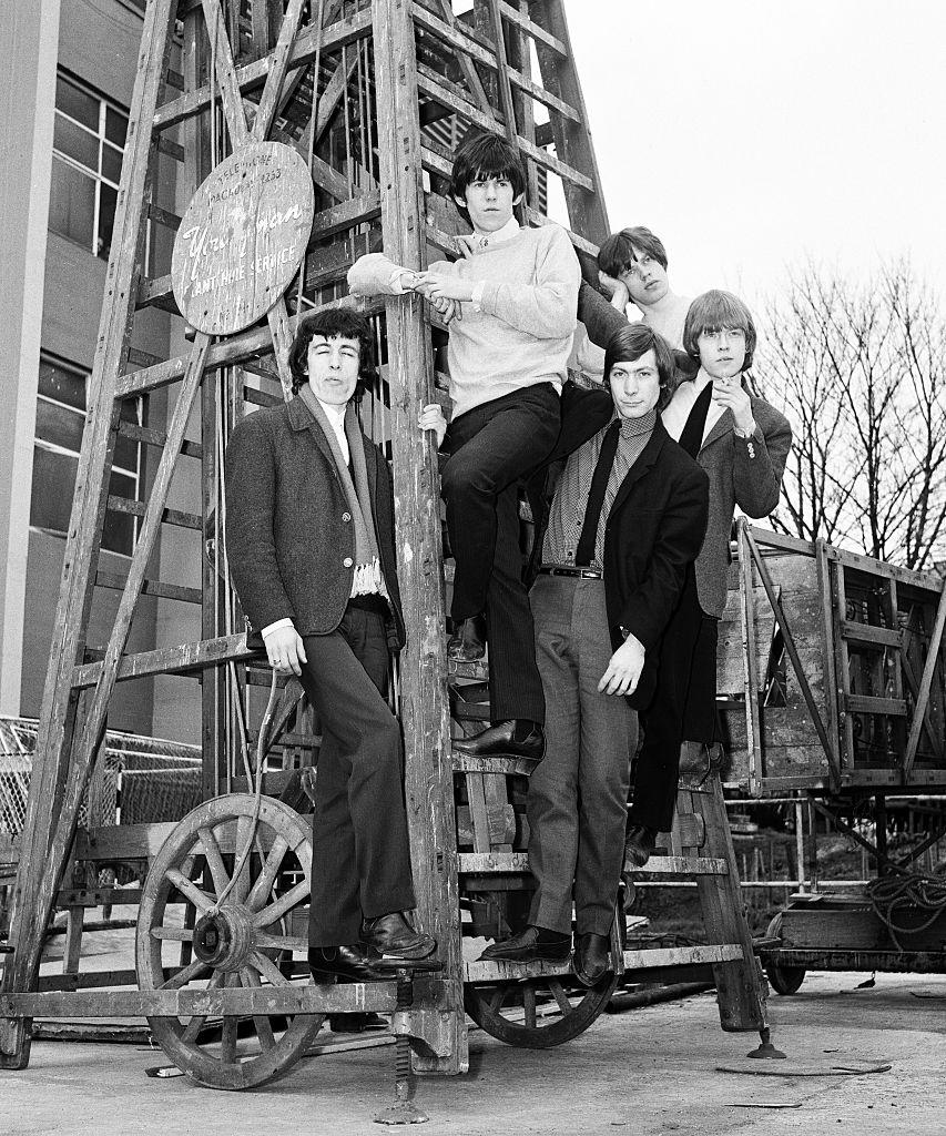 The Ready Steady Go Mod Ball at Wembley Empire Pool. The Rolling Stones. r-l Brian Jones, Mick Jagger, Charlie Watts, Ke